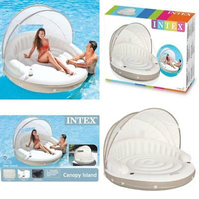 Intex Canopy Island Inflatable Lounge 78  X 59  GIANT ...  sc 1 st  PicClick & Intex Canopy Island Inflatable Lounge 78