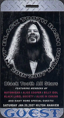 Black Label Society  _RARE_ 2007 Laminate Backstage Pass DIMEBAG Alice in Chains