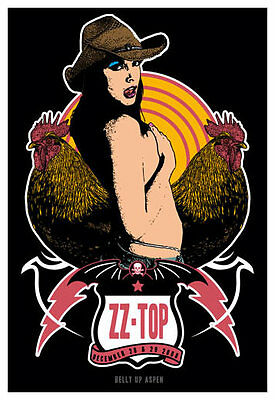 Scrojo ZZ Top 2008 Poster Belly Up Aspen Colorado ZZTop_0812