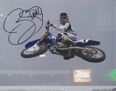 "James Bubba Stewart Jr Motocross Racer  Signed Autographed 8x10"" Photo  16216"