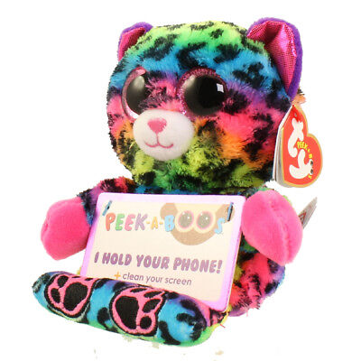 "TY Beanie Boos Peek-A-Boo 4"" LANCE the Leopard Phone Holder with Cleaner MWMTs"