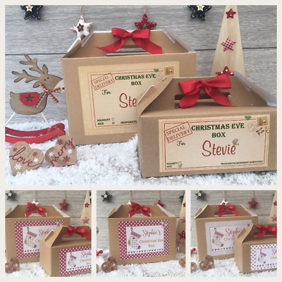 Personalised Christmas Eve Box - Xmas Gift Favour Present Bow - Special Delivery