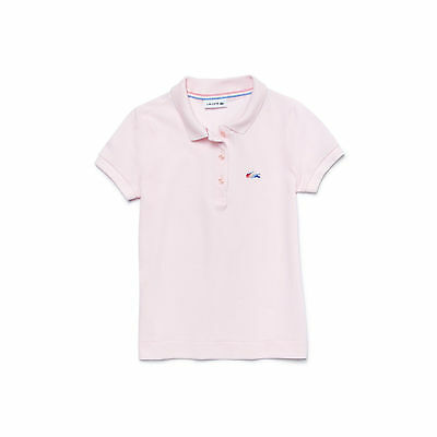 """Genuine Lacoste Girls Fitted Polo Fine Pique Size 10 Age 140 Cm 56"""" Pink Rare"""