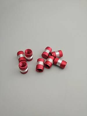 For Universal Anodized Tire Valve Stem Caps Aluminum Red Refit Valve Stems 4PCS