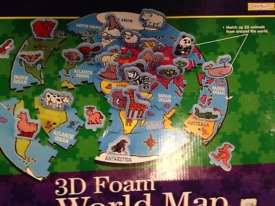 WORLD MAP FOAM Map Puzzle homeschool classroom - $27.99 | PicClick