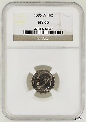 1996-W Roosevelt Dime 10C NGC MS65