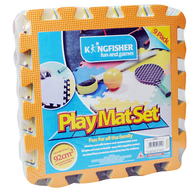 Kingfisher 9-Pc Baby Puzzle Playmat Soft Foam Kids Toy Interlocking Floor Mats