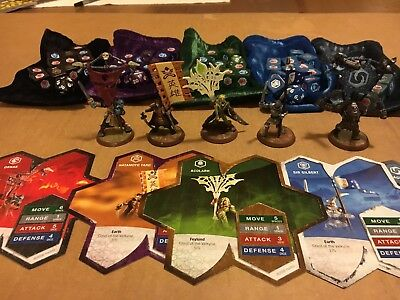 Heroscape: Crest of The Valkyrie - Complete Set of 5 Flag Bearers