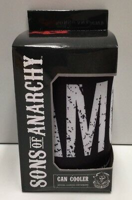 Sons Of Anarchy Authentic Black Can Cooler Stubby Holder Boxed