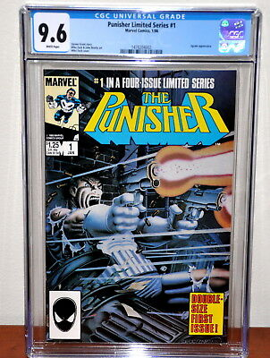 PUNISHER #1 (1/86), 1st Solo Series!! CGC NM+ 9.6,  WHITE Pages!!
