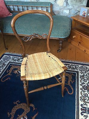 Vintage Balloon Back Cane Seat Bedroom/dining/desk Chair