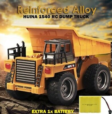 HUINA Toys 1540 6 Channel 1/12 Metal Dump Truck Charging RC Car EXTRA Battery