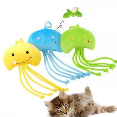 Pet Puppy Cat Jellyfish Plush Catnip Chew Toy Kitten Teeth Cleaning Toys JJ