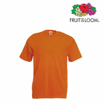 Lot de 5 T-shirts homme manches courtes FRUIT OF THE LOOM COULEUR ORANGE