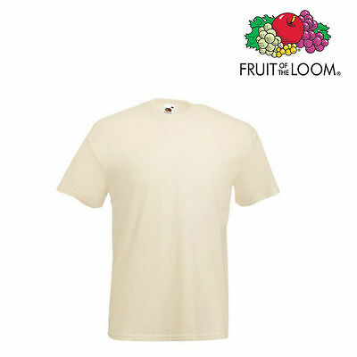 Lot de 10 T-shirts homme manches courtes FRUIT OF THE LOOM COULEUR BEIGE