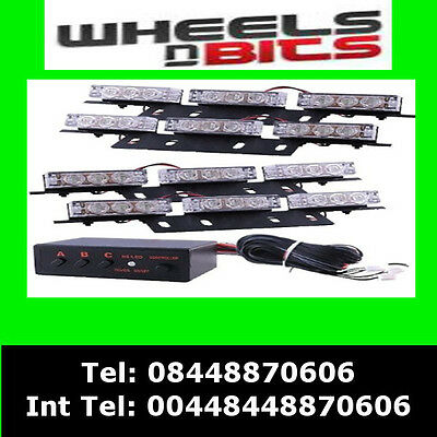 4 BAR 36 LED Warnleuchte Blitzer Blink VW Volkswagen Caddy LT ...