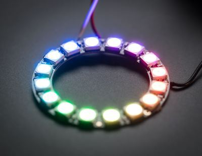 NeoPixel Ring - 16 x WS2812 5050 RGB LED with Integrated Drivers