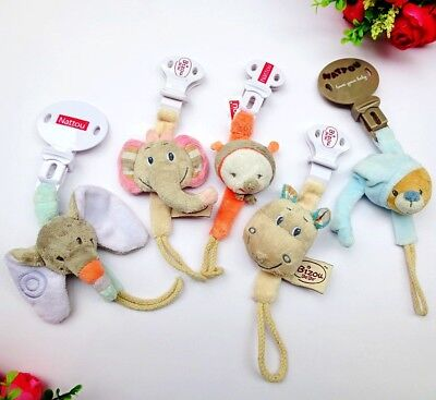 Baby Kid Child Soft Animal Pacifier Nipple Soother Dummy Saver Clip Holder Chain