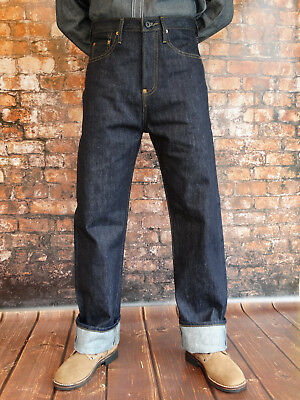 Quartermaster Denim Jeans 30er Style no-chinch Rockabilly US Army Navy Trouser