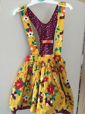 Little Bird By Jools Oliver Yellow Floral Needlecord Skirt With Braces 12-18 M