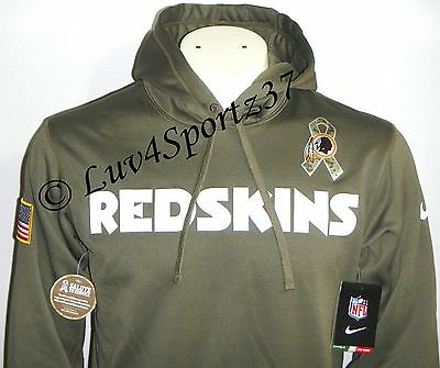 new concept d58d3 68a00 NIKE MEN'S WASHINGTON Redskins Salute To Service Therma ...