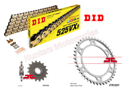 Honda CBR600F 2002 to 2007 RACE GEARING DID Gold XRing Chain & JT Sprockets Kit