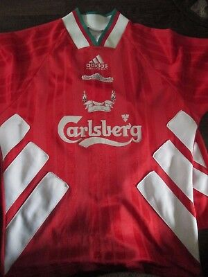 "Liverpool 1993-1995 Home Football Shirt and Shorts Size 30-32"" chest, 26"" wa /bi"