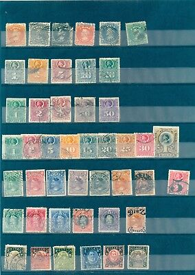 CHILE - Lot of USED Stamps from 1853 - 1977 on 9 Scans