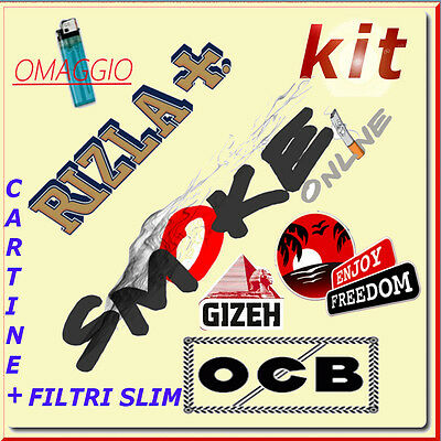 4080 FILTRI SLIM OCB 6 mm BUSTA e CARTINE CORTE RIZLA OCB ENJOY GIZEH SMOKING