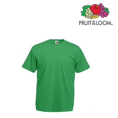 Lot de 10 T-shirts homme manches courtes FRUIT OF THE LOOM COULEUR VERT