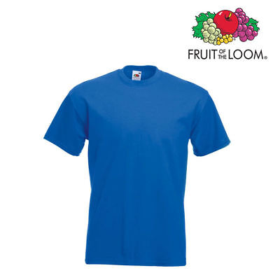 Lot de 10 T-shirts homme manches courtes FRUIT OF THE LOOM COULEUR BLEU ROI