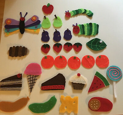 The Very Hungry Caterpillar - Children's Felt Flannel Board Story