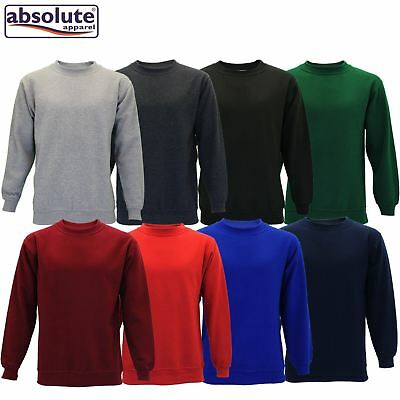 Mens Absolute Apparel AA24 Regular Big Size Gym Sterling Sweatshirt Crew Neck