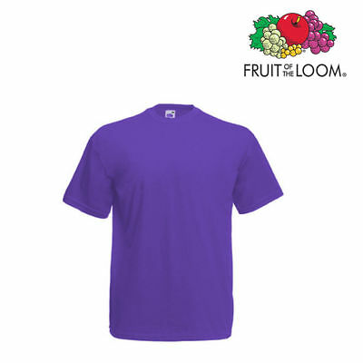 Lot de 10 T-shirts homme manches courtes FRUIT OF THE LOOM COULEUR VIOLET