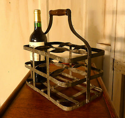 French Metal Wine Bottle Carrier