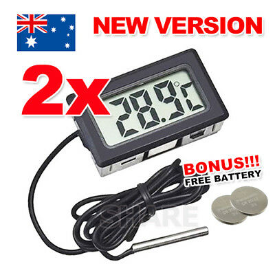 2x LCD Digital Thermometer for Fridge/Freezer/Aquarium/FISH TANK Temperature