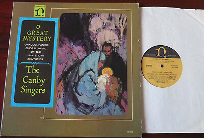 Unaccompanied Choral Music 16/17Th Centuries Lp Canby Singers Nonesuch H-71026