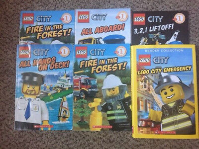 Lot of Lego City Reader Books