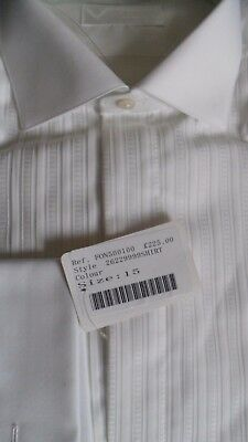 VINCCI of London - Extraordinary White Two Fold Dress Shirt RRP £225. Size 15""