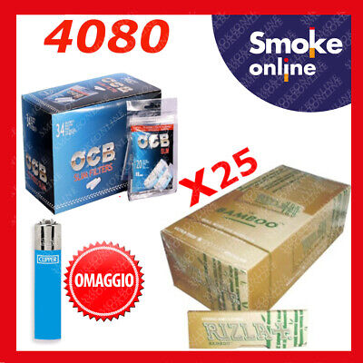 5000 RIZLA NATURE CORTE 2 BOX e 4080 FILTRI SLIM OCB  6mm + ACCENDINO