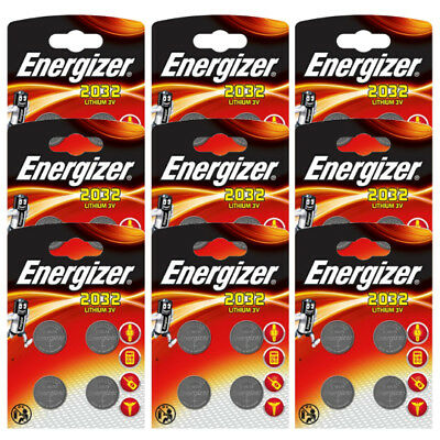 36 x Energizer CR2032 Coin Battery Batteries Lithium 3V for Watches Torches Keys
