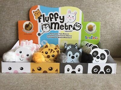 Children Retractable Tape Measure Animals With Fluffy Pom Pom