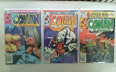 Conan the Barbarian comic book lot 2((MARVEL,1981)