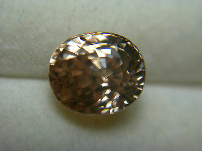 3.98ct fancy Peach Champagne Zircon gem oval Tanzania Gemstone natural color gem