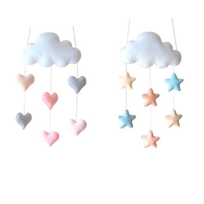 Cloud Love Heart Baby Nursery Mobile Wall Hanging Decor Shower Gift White