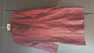 Brand New Men's Suit Black and Red Sherwani embroidered Asian Indian Kurta