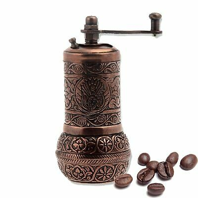 Turkish Handmade Copper Coffee Salt Pepper Spice Grinder Mill