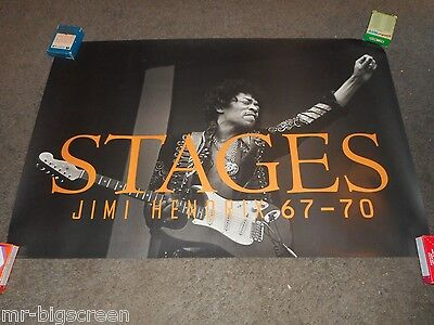 Jimi Hendrix - Stages - Original Ss Rolled Promo Poster - 1991
