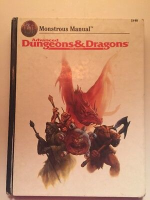 ADVANCED DUNGEONS & DRAGONS MONSTROUS MANUAL TSR2140 1993  Hardcopy
