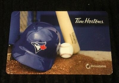 Tim Hortons Mlb Toronto Blue Jays Gift/tim Card New